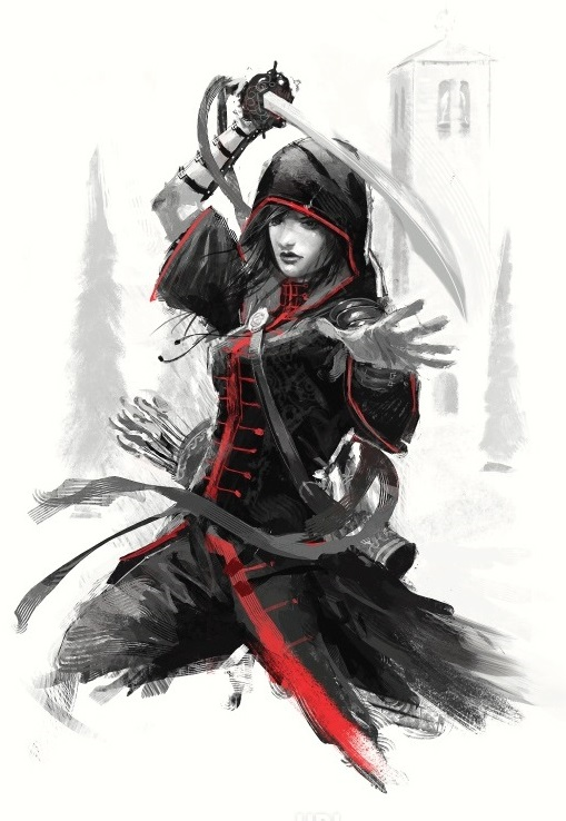 Litografia Ezio Auditore The Red Lineage Collection Ubiworkshop