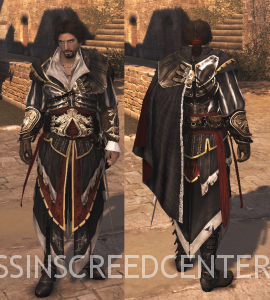Ezio con la Armadura de Altaïr sin Capucha