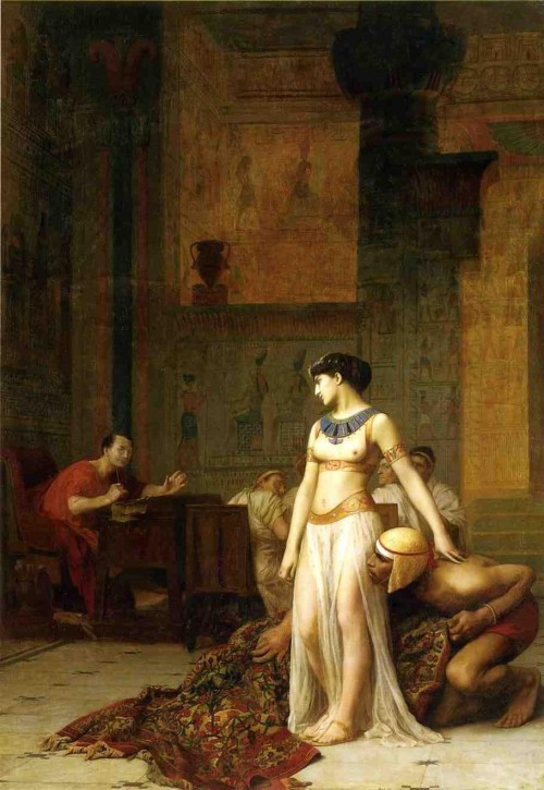 52Cleopatra_and_Caesar_by_Jean-Leon-Gerome