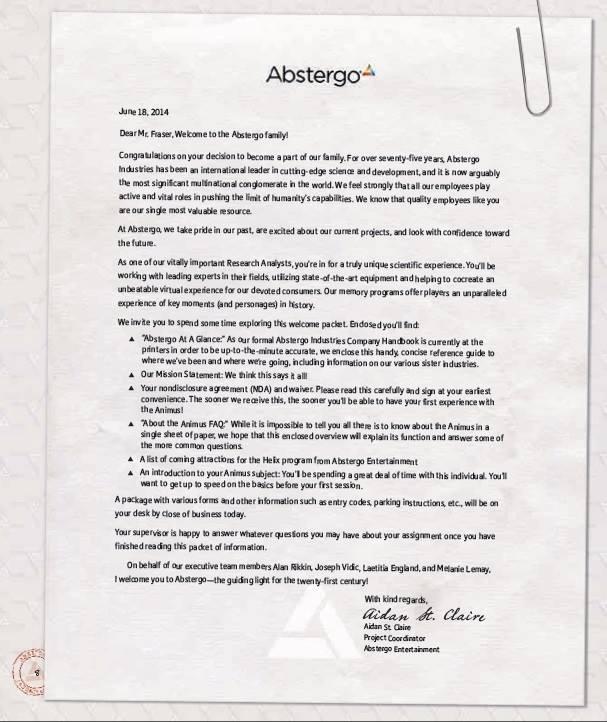 Abstergo Entertainment Employee Handbook2