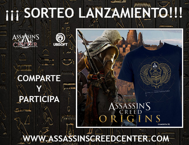 Sorteo_Salida_ACOrigins_camiseta_Assassins_Creed_Center